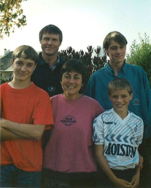 My family in 1992. L/R: David, Richard, Louise, Andrew, Hamish
